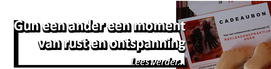 cadeaubon reflexzonetherapie Uden Noord Brabant